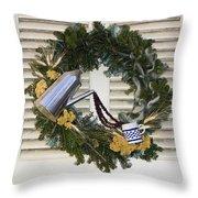 Coffee Wreath Throw Pillow