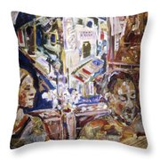 Coffeehouse Of The Mind Throw Pillow