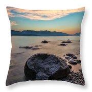 Cogburn Beach Rocks Throw Pillow