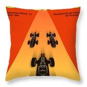Cognac France F3 Grand Prix 1964 Throw Pillow