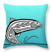 Coho Salmon Throw Pillow