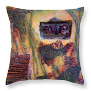Coin Of The Realm Encaustic Throw Pillow