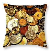 Coinage Throw Pillow