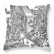 Coiners, 1577 Throw Pillow