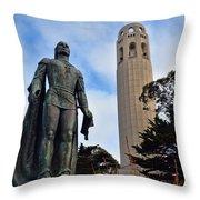 Coit Tower -2 Throw Pillow
