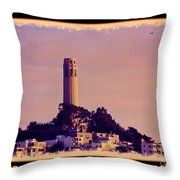 Coit Tower Poster Throw Pillow