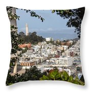 Coit Tower View Throw Pillow