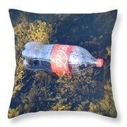 Coke Among The Seaweed Throw Pillow
