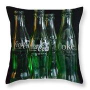 Coke Bottles From The 1950s Throw Pillow