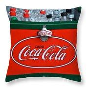 Coke Cooler Throw Pillow