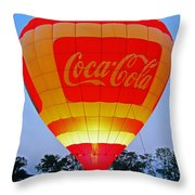 Coke Float Throw Pillow
