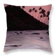 Cola Beach Sunset Throw Pillow
