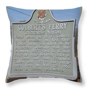 Colbert's Ferry Historical Sign Throw Pillow