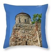 Colchester Castle Throw Pillow