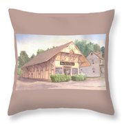Colchester Train Station Throw Pillow