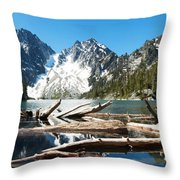 Colchuck Lake Panorama Throw Pillow