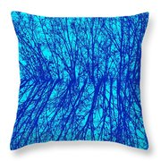 Cold Blue Throw Pillow