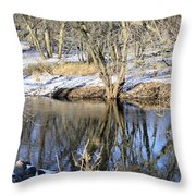 Cold Blue Part 2 Throw Pillow