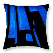 Cold Blue Steel Throw Pillow