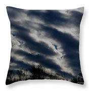 Cold Cloudscape Throw Pillow