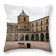 Cold Courtyard Avila Throw Pillow