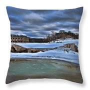 Cold Day At The Beach Throw Pillow