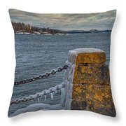 Cold Day On Superior Throw Pillow
