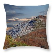 Cold Day On The Blue Ridge Throw Pillow