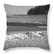 Cold Day On The Pier Throw Pillow