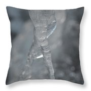 Cold Finger Throw Pillow