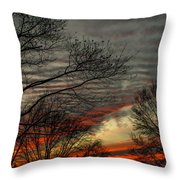 Cold Front Sunset Throw Pillow
