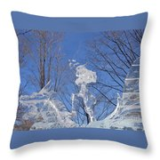 Cold Fury Throw Pillow