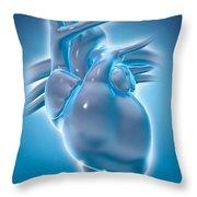 Cold Heart Throw Pillow