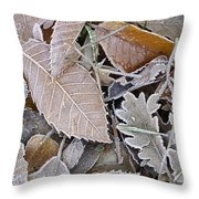 Cold Leaves Throw Pillow