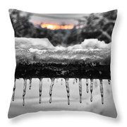 Cold Morning Light Throw Pillow