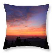 Cold Mountain At Sunrise Throw Pillow