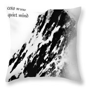 Cold Mountain Reflection W Throw Pillow