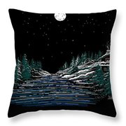 Cold Mountain Winter Throw Pillow