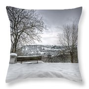 Cold Seat With A View Throw Pillow