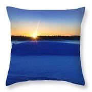 Cold Silence.. Throw Pillow