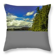Cold Spring Day In Vermont Throw Pillow