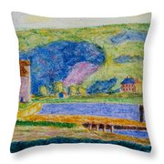 Cold Spring Harbor Throw Pillow
