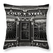 Cold Steel Bw Throw Pillow