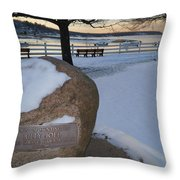 Cold Stone Throw Pillow