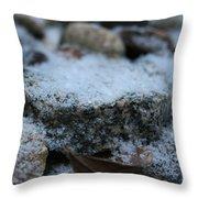 Cold Stone Throw Pillow