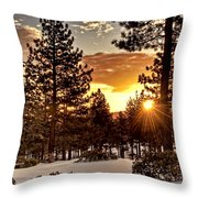 Sun Star Throw Pillow