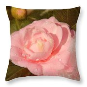 Cold Swirled Camellia Throw Pillow