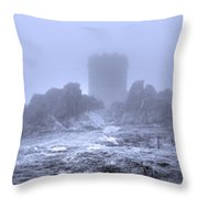Cold Tower Of Mist Throw Pillow