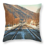 Cold Tracks Through Montgomery Throw Pillow