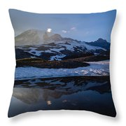 Cold Water Mountain Throw Pillow